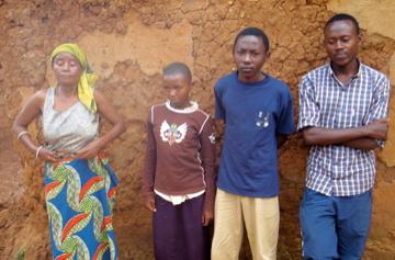 Linda and three of her children