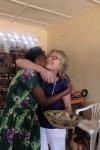 Petra gets a hug