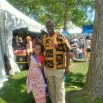 Emmanuel with the Rwandan Heritage Days princess